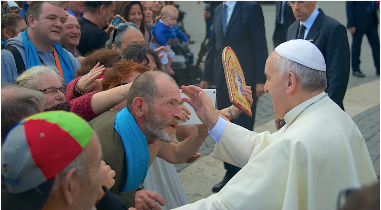 Bénédiction du Pape François lors de Fratello 2016