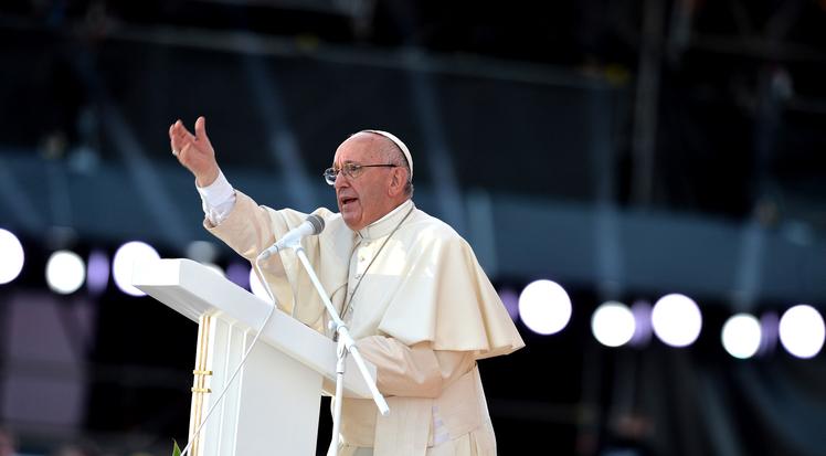 Le pape François lors de la veillée finale des JMJ 2016 à Cracovie.