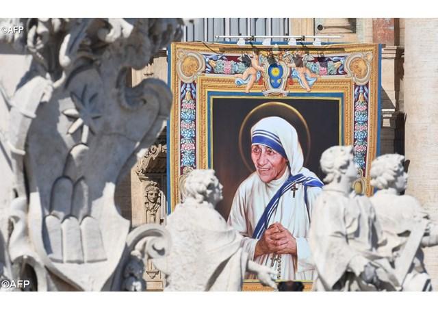 La canonisation de Mère Teresa, le 4 septembre 2016.