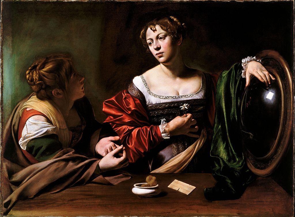 Caravage, La Conversion de Marie-Madeleine, vers 1598, Detroit, Detroit Insitute of Art